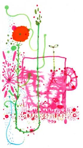 花咲くマグカップ